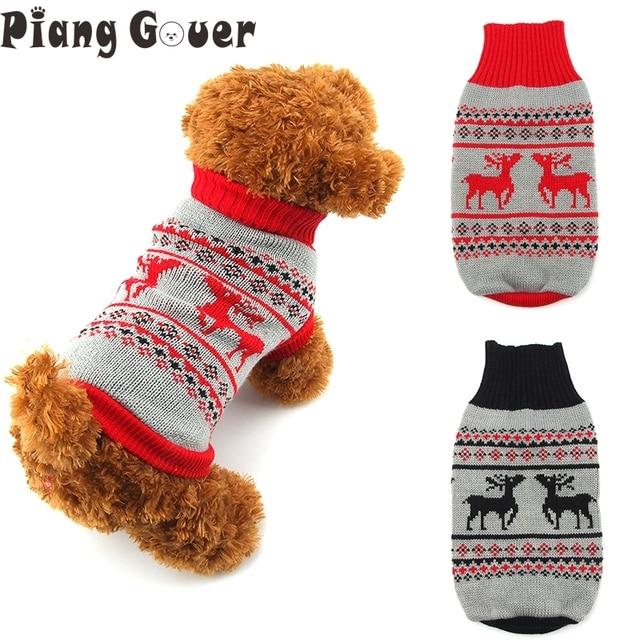 Ropa perro pequeño punto Suéteres para perros Navidad traje para ...