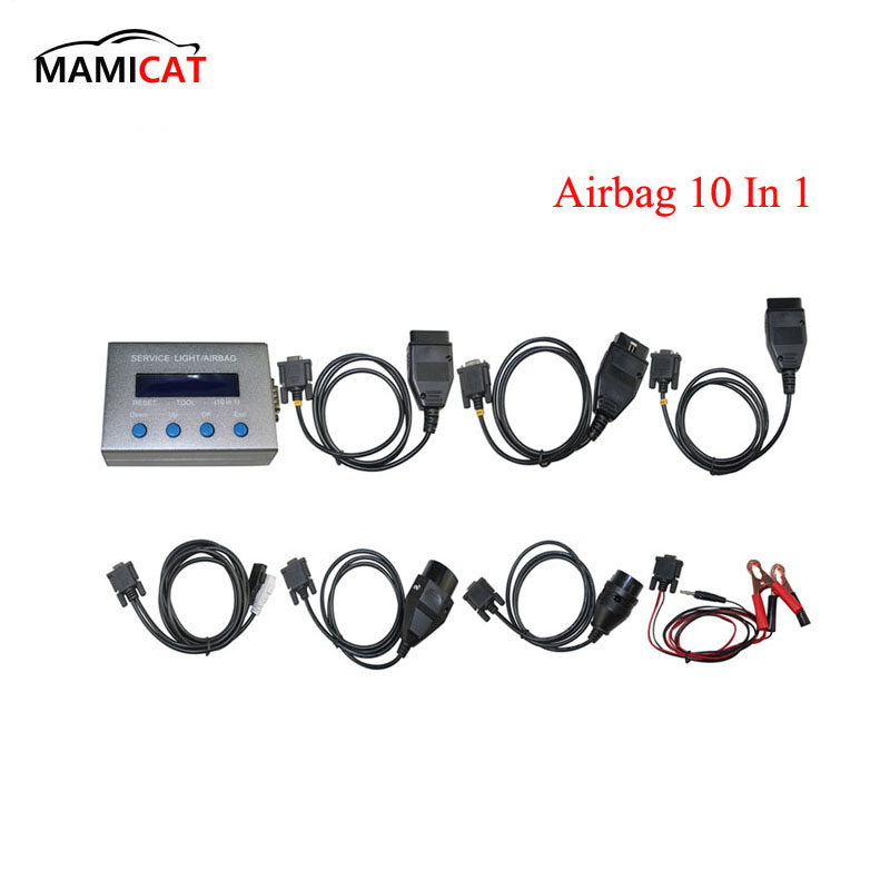 10 in 1 Airbag Reset Tool and Service Light Oil Reset Tool for Multi brand Cars Free shipping