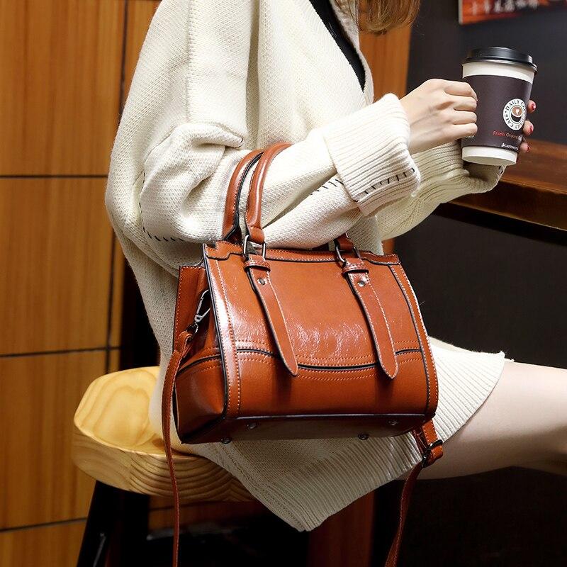 de couro das mulheres bolsa casual novo t49
