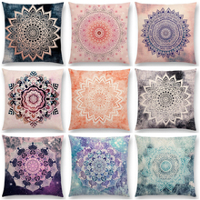 2018 NEW Ethnic Style Mandala Linen Print Cushion Cover Cotton Linen Pillow case Home Decorative Pillow Cover for Sofa