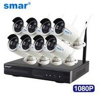 Smar 1080P Wireless CCTV System 2MP 8CH HD WI FI NVR Kit Outdoor IR Night Vision