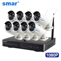 Smar 1080P Wireless CCTV System 2MP 8CH HD WI FI NVR kit Outdoor IR Night Vision IP Wifi Camera Security System Surveillance