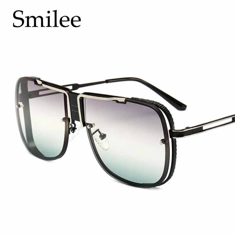 be47a1c1a1745 Oversized Sunglasses 2019 Designer Brand Luxury Men Vintage Glasses Fashion Square  Sunglasses Male Lunettes De Soleil