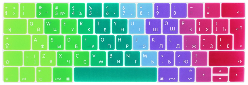 Image 2 - RYGOU EURO Russian Keyboard Stickers for Macbook Pro 13 touch bar Silicone Keyboard Cover for Macbook Pro 15 2016 Skin Protector-in Keyboard Covers from Computer & Office