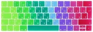 Image 2 - Rygou Euro Russische Keyboard Stickers Voor Macbook Pro 13 Touch Bar Siliconen Toetsenbord Cover Voor Macbook Pro 15 2016 Huid protector