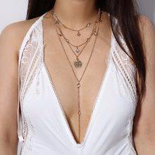 6ed84b9c226a Capas collar de color oro estrella capa cadena COLLAR COLGANTE joyería de  declaración 2018 verano tendencia Accesorios