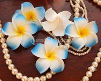 100x Wedding Party Hawaiano del Frangipani Foam Plumeria Capolino Luce Blu