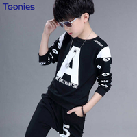 Child Boys Pants Suit 2018 New Spring Autumn Children Sportswear Fashion Casual Long Sleeved Cotton Boy