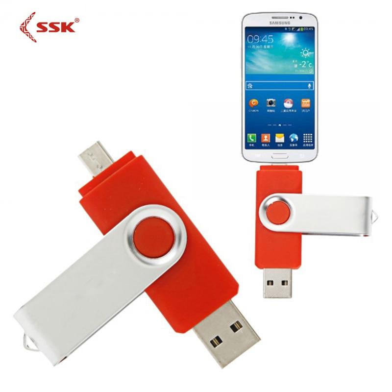 სმარტფონი USB2.0 Flash Drive OTG 4gb 8gb 16gb 32gb 64gb კალამი წამყვანი გარე შენახვის მეხსიერების ჯოხი 64g U დისკი Android მოწყობილობებისთვის