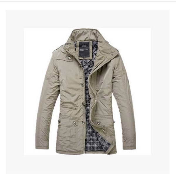 ropa hombre 2014  men Winter/autumn high collar cotton padded  jacket male business casual coat outwear clothes S504