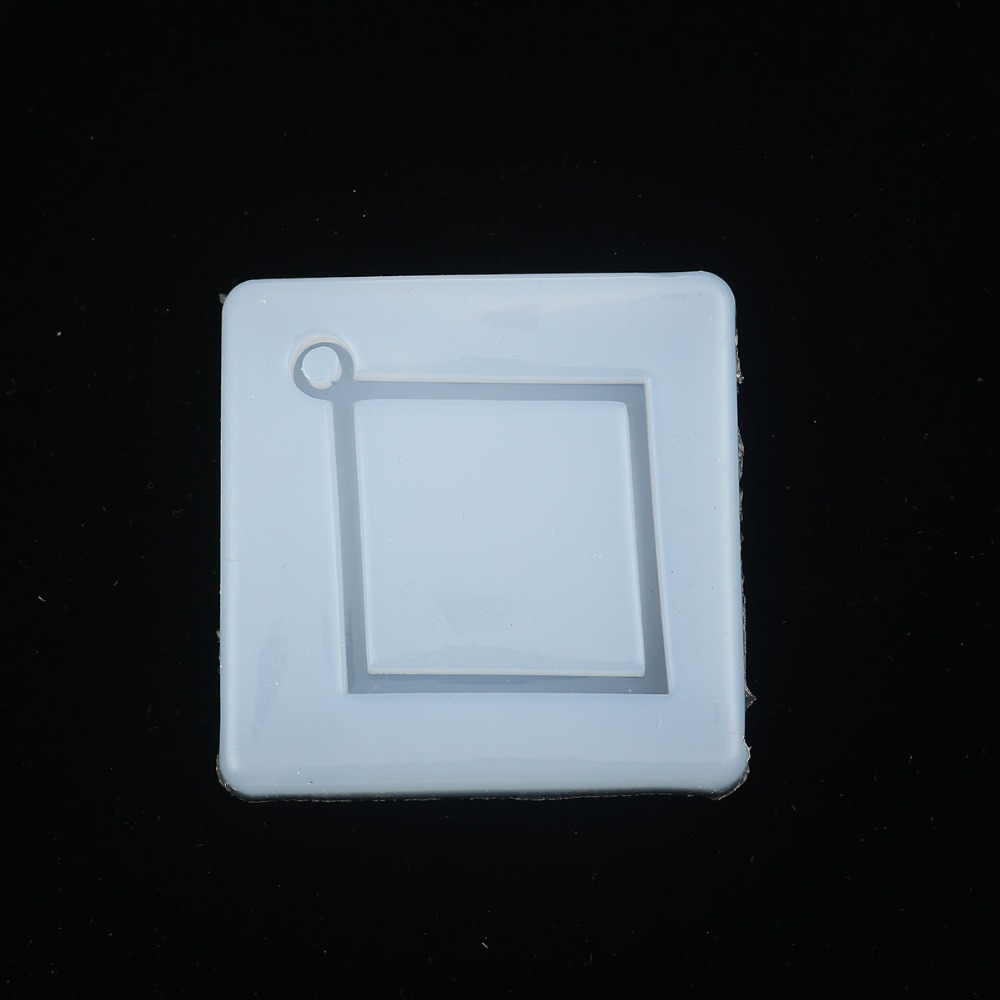 Doreen Box Silicone Resin Mold For Pendants Earrings Jewelry Making Square White Rhombus 57mm(2 2/8