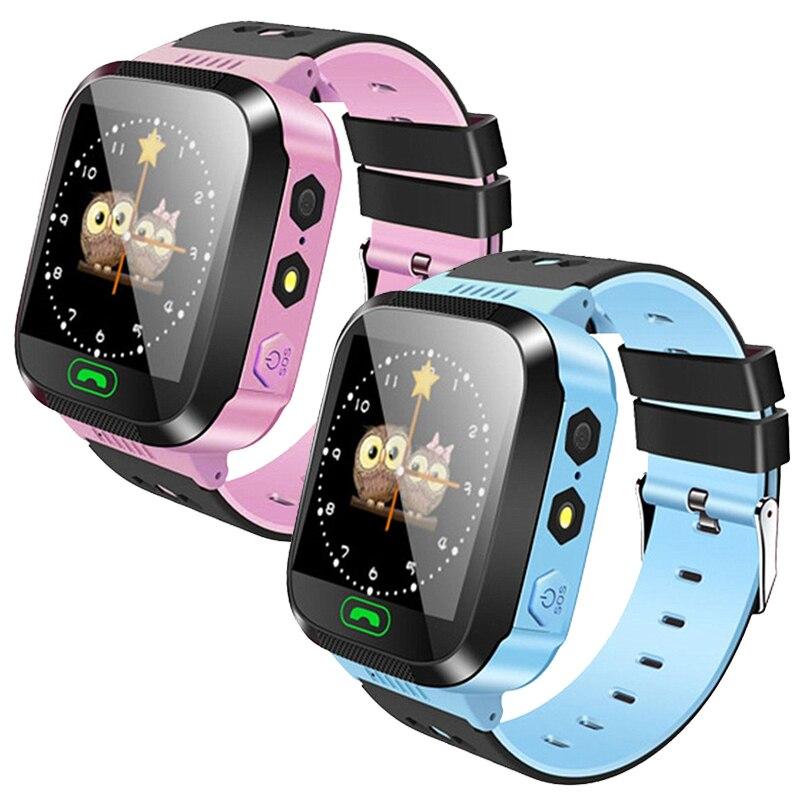 Montre intelligente enfants LBS SOS caméra SIM appel bébé montre-bracelet étanche horloge avec caméra cadeau pour filles garçon enfants PK DZ09 A1 GPS