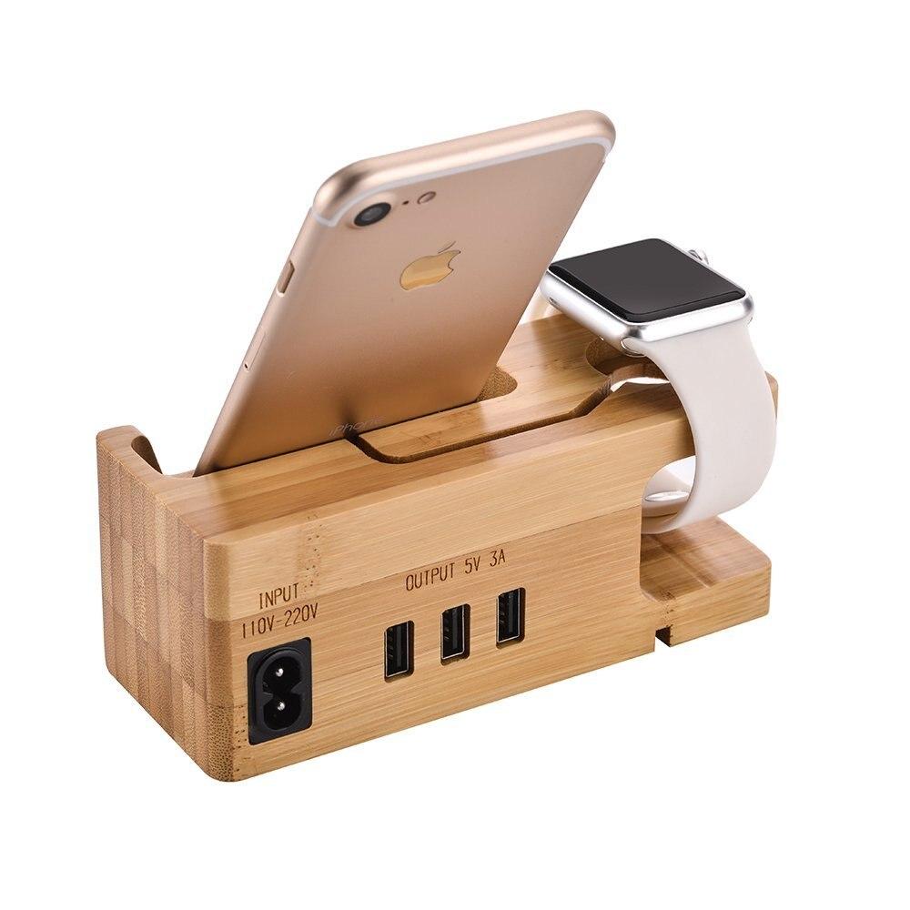 Avec 3 Ports USB 3.0 Hub USB Station de charge support pour téléphone pour tous Android Smartphone pour iphone x pour Apple Watch i Watch