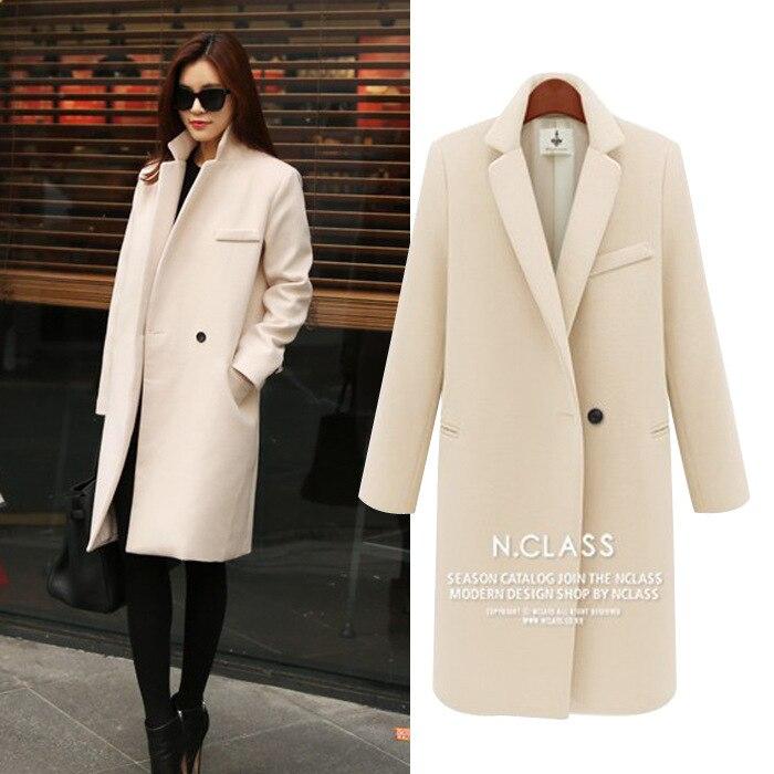 Cream Wool Coats   Down Coat