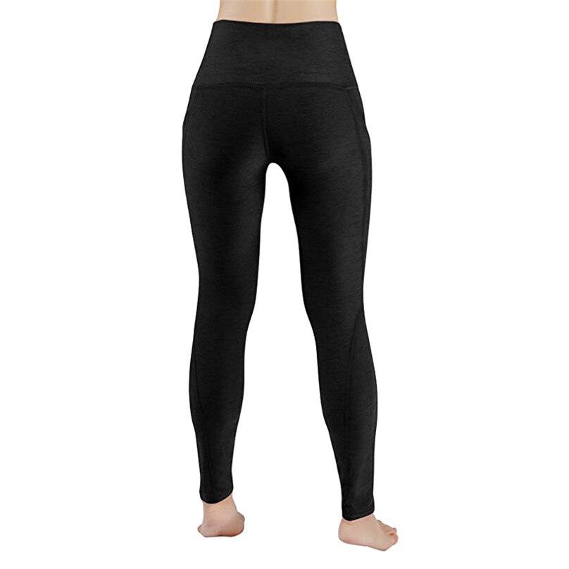 New Sexy Training Women\'s Sports Yoga Pants Leggings Pocket Gym Fitness Workout Running Tights Women Sport Leggings #F40OT23 (2)