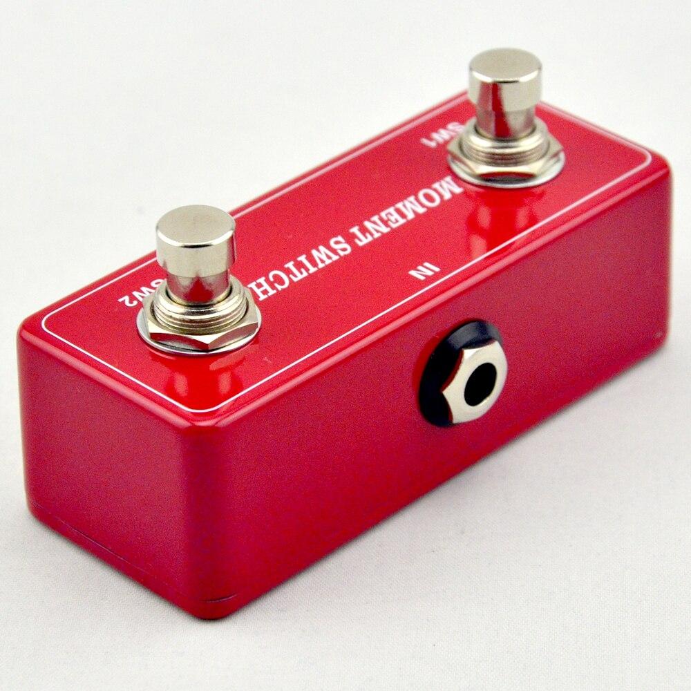 NOVO Botão duplo pedais pedal Momentânea ON/OFF para amplificadores de guitarra & guitarra Elétrica pedal