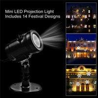 Bowarepro Światła LED Boże Narodzenie Projektory Laserowe świąteczne Światła DC 9 V RGB LED Reflektory Patio Krajobraz 14 scenariusze KTV