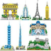 Nano blocchi divertente world famous architettura Big Ben mini mattoni da costruzione di plastica fai da te micro modello educativo giocattoli del capretto