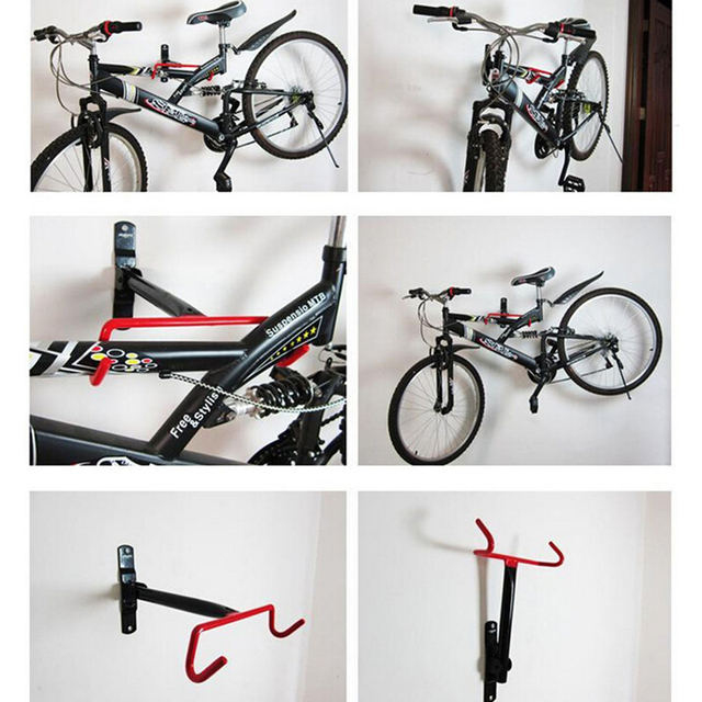 Bicycle Garage Wall Mounted Stands Bike Storage Rack Mount Hanger Hook  Designer Solid Steel Bike Cycling