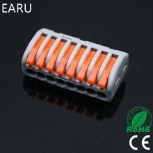 1 шт. pct-218 pct218 WAGO 222-418 Универсальный Компактный Провода разъем подключения Инструменты для наращивания волос 8 pin Дирижер клеммный блок с рычаг