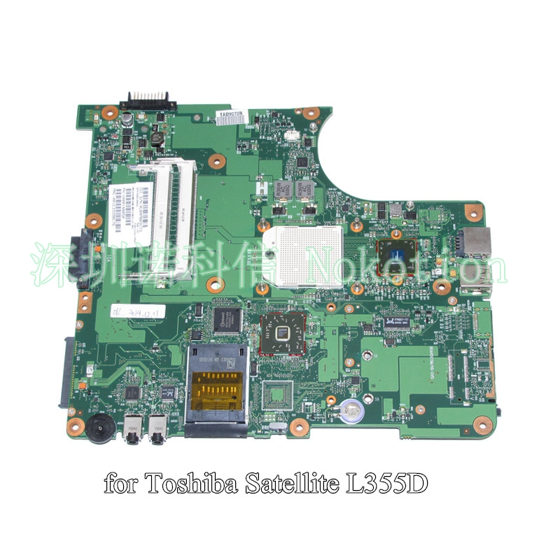 NOKOTION SPS V000148050 For toshiba satellite L355 L355D laptop motherboard 6050A2174501-MB-A03 цена
