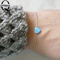 Venta de Buena Calidad Bule y blanco Colores Opal Corazón Pulsera Para la Mujer 2017 Nueva moda pulseras Pulsera del Precio de fábrica