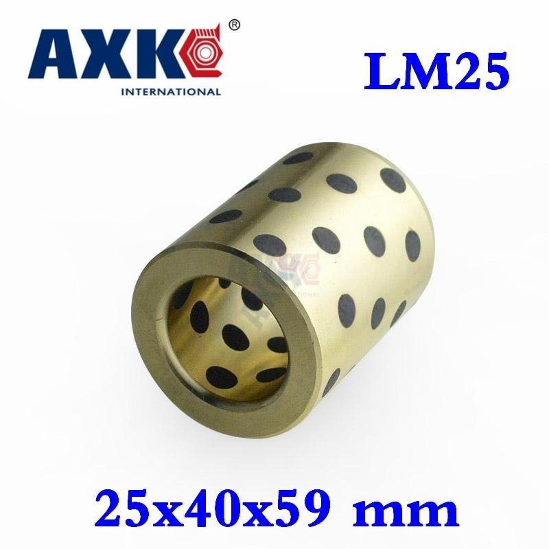 Ball Bearing 4pcs 25x40x59 Mm Linear Graphite Copper Set Bearing Bushing Oil Self-lubricating Jdb Free Shipping Lm25uu Lm25 scv35uu 35 mm linear motion ball bearing slide unit bushing