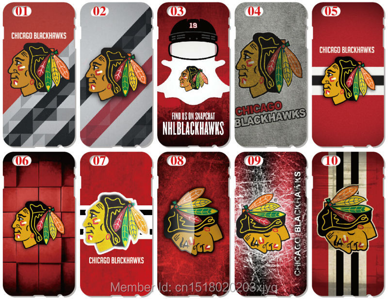 Chicago Blackhawks Cover For iphone X 4 4S 5 5S SE 5C 6 6S 7 8 Plus For iPod Touch 5 6 Hard Phone Case Capa Coque Shell Fundas