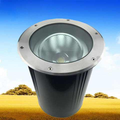 5 pcs lote angulo ajustavel luz subterranea cob pode ser escurecido 10w 15w 20w