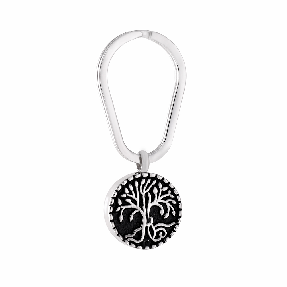 IJK2056 Tree of Life Eternity Stainless Steel Round Shape Cremation Keychain & Keyring Keepsake Urn Ashes Jewelry Pendant Male|tree of life keychain|keychain treetree keyring - AliExpress