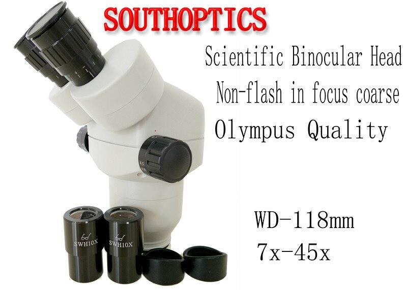 Scientific 7X 45X Zoom Stereo Microscope Binocular head SWF10x 23 eyepiece rubber eye guards Microscope accessories