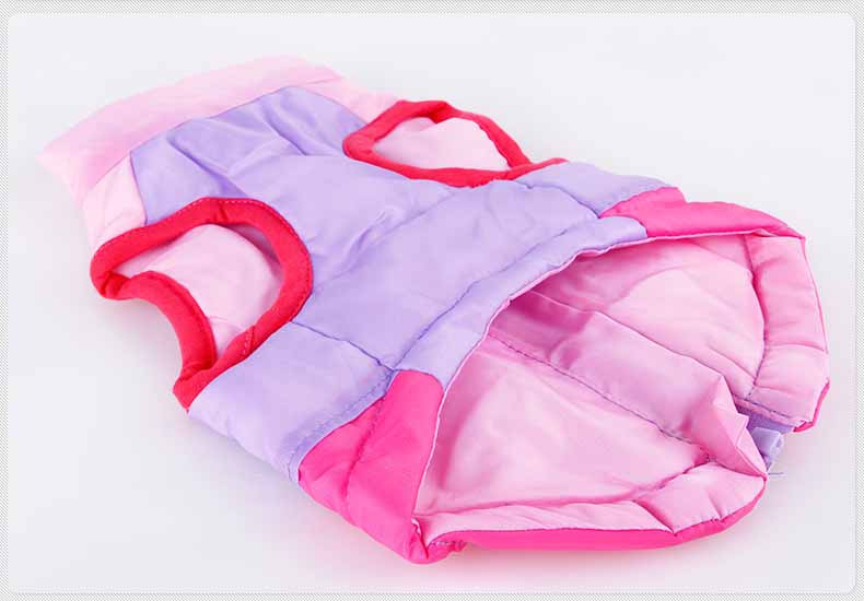 Popular Color Blocking Pet Apparel Dog Clothes Winter Puppy Dogs Vest Cotton-padded Jacket Coat for Chihuahua Teddy Poodle6