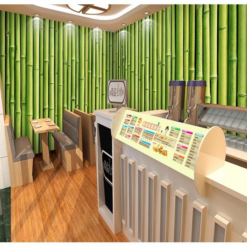tea background yoga private studio rooms natural mural bamboo restaurant sofa custom