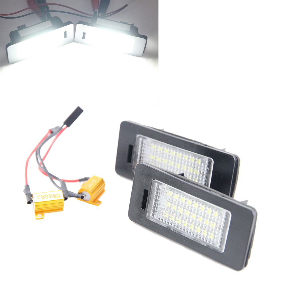 One pair High Power canbus 18-SMD LED License Plate Lights for VW 12V led tail license light for Golf 6 VI Variant 2010~ x white canbus 18 smd license plate lights lamps assembly for minicooper r50 r52 r53 pack of 2pcs