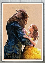 Ruxing 3D Diamond Painting beauty and the Beast Cross Stitch castle Needlework Embroidery Full Decorative