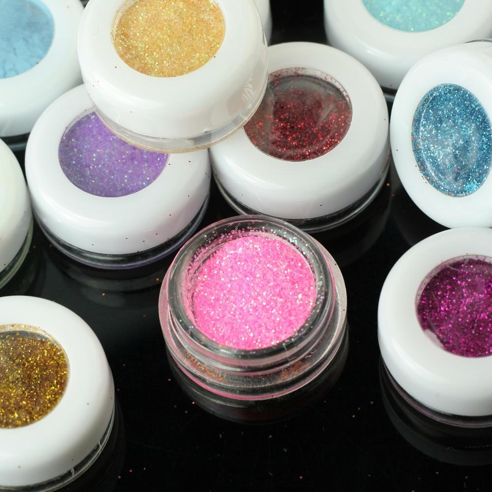 30 pcs Shimmer Eyeshadow Sequin Gel Cream Eyes Face Glitter Waterproof Festival Makeup Pigment Laser Glitter Shiny Eye Shadow in Eye Shadow from Beauty Health