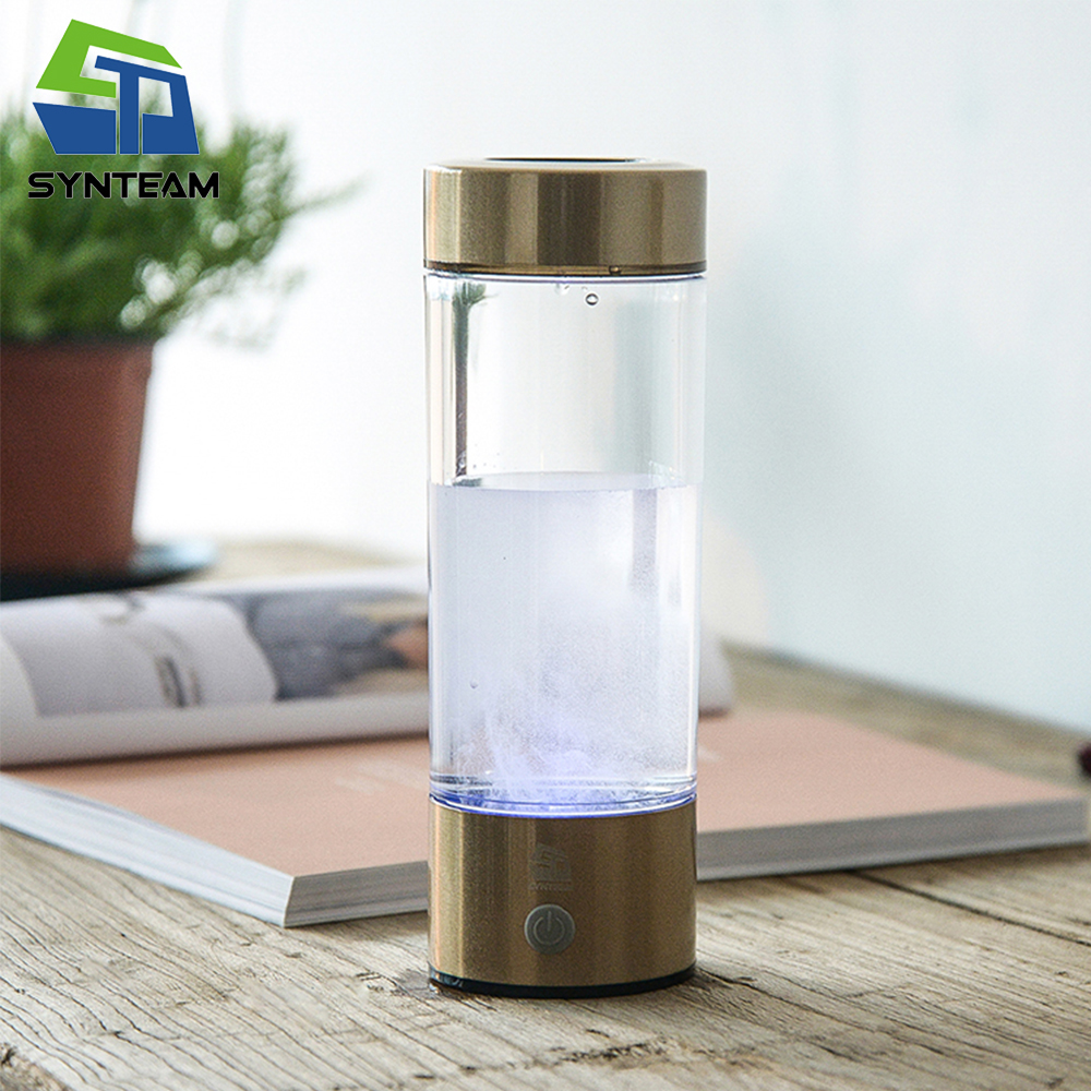 SYNTEAM Brand Hydrogen Water Generator Alkaline Water Maker Rechargeable Portable Water Ionizer Bottle 400ml USB Line WAC007SYNTEAM Brand Hydrogen Water Generator Alkaline Water Maker Rechargeable Portable Water Ionizer Bottle 400ml USB Line WAC007