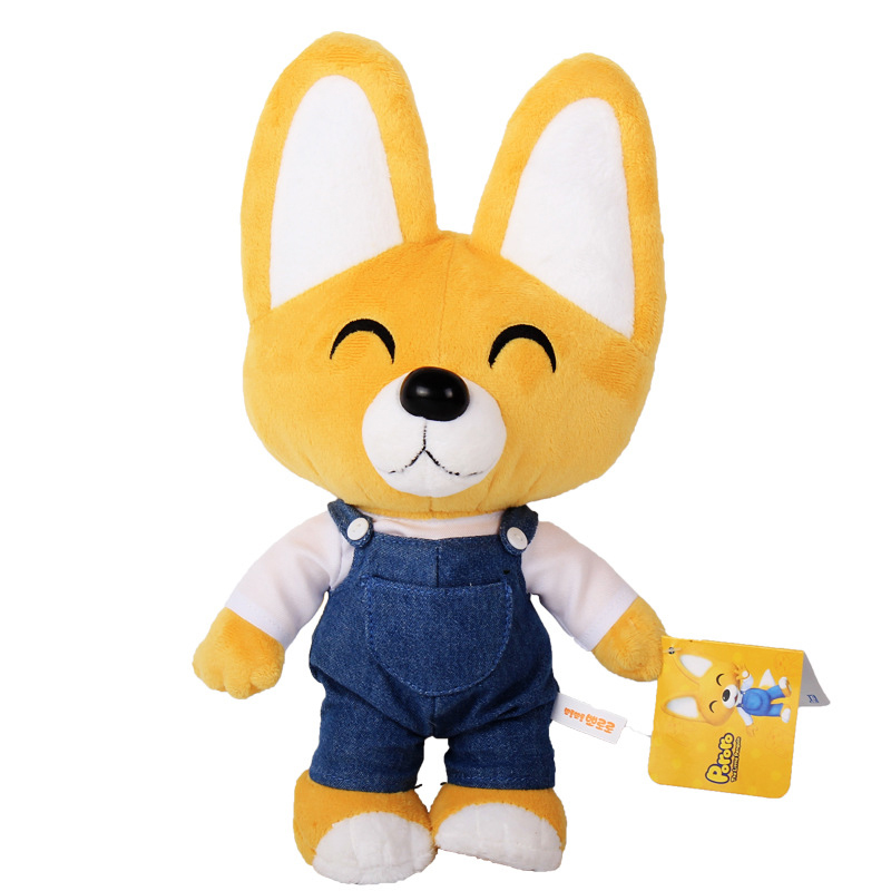 32cm Korea Pororo Plush Toys Cute Fox Eddy Plush Stuffed Animals Toys Doll Soft Toy Brinquedos for Children Kids Gift 30cm cute korea pororo little penguin plush toys doll pororo with glasses plush soft stuffed animals toys for children kids gift