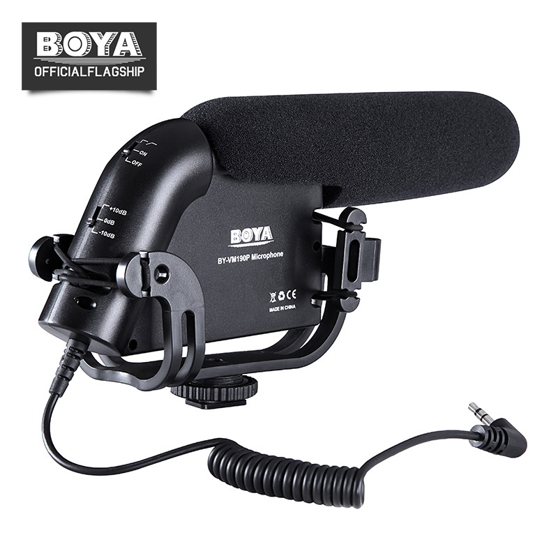 BOYA BY-VM190P Condenser Video Microphone Camera Stereo Shockproof Windproof Mic for Canon Nikon Pentax DSLR Camera Camcorder цены онлайн