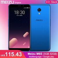 Original Meizu M6S 32GB 3GB Mobile Phone Hexa Core Exynos 7872 5.7 HD Screen 16.0MP F/2.0 Aperture Cell phone Fingerprint
