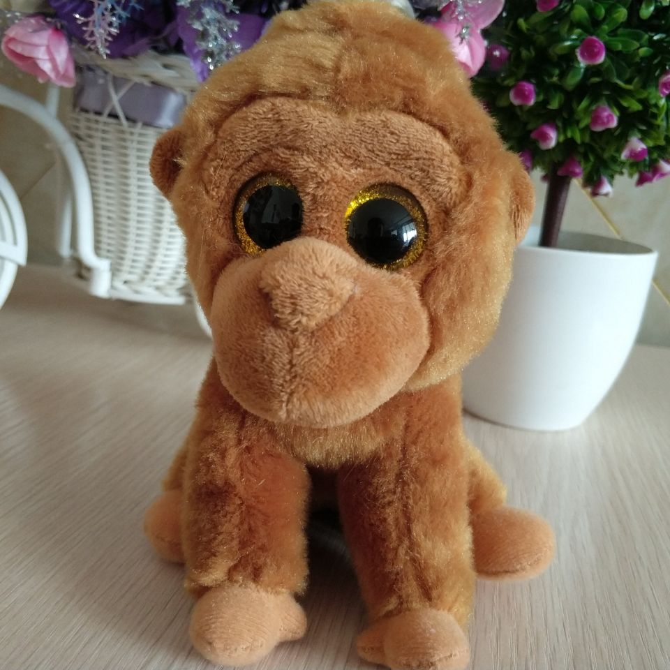 76fc0556e15 2019 Monroe Gorilla Chimpanzee Brown Gorilla TY BEANIE BOOS 15CM BIG ...