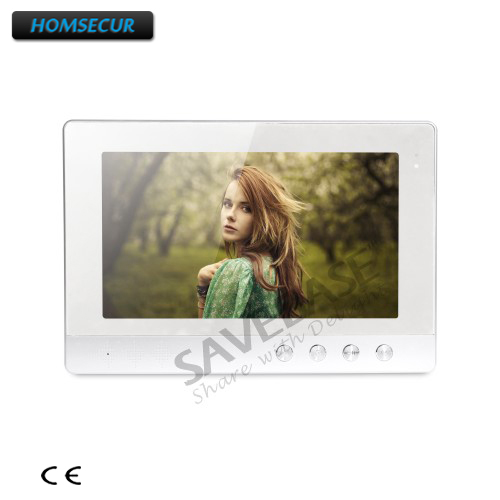 HOMSECUR 10.1 Inch XM101-B Color Indoor Monitor For Video Door Phone Intercom System