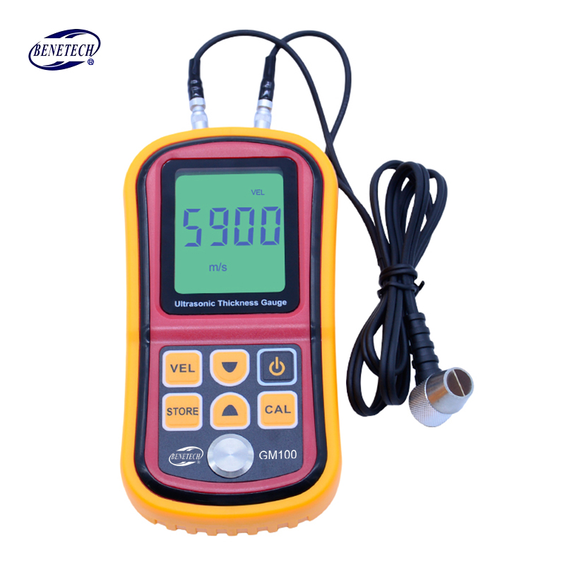 GM100 Digital LCD Ultrasonic Thickness Meter Tester Gauge Metal Testing Width Measuring Instruments megalight xf8031al white