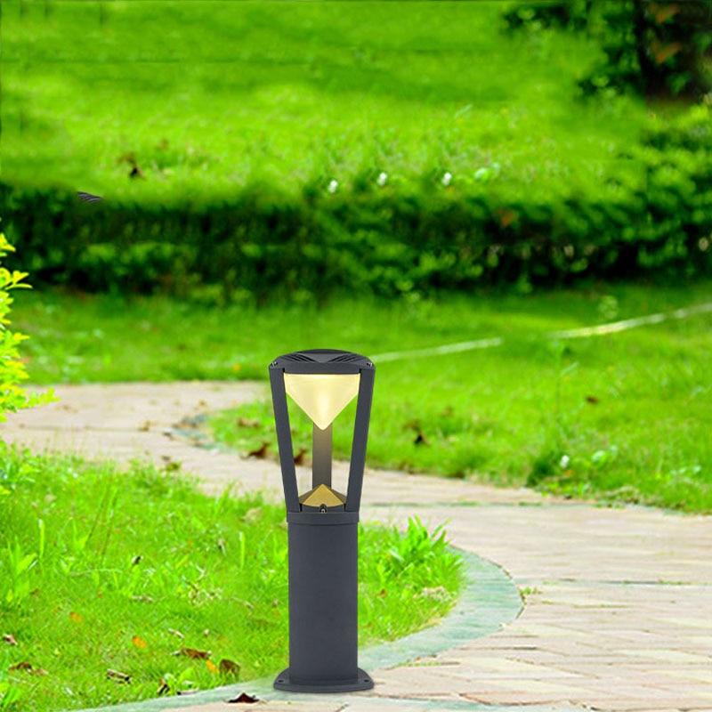 ao ar livre lampada do gramado de aluminio puro residencial villa countyard landscape luzes arandela jardim