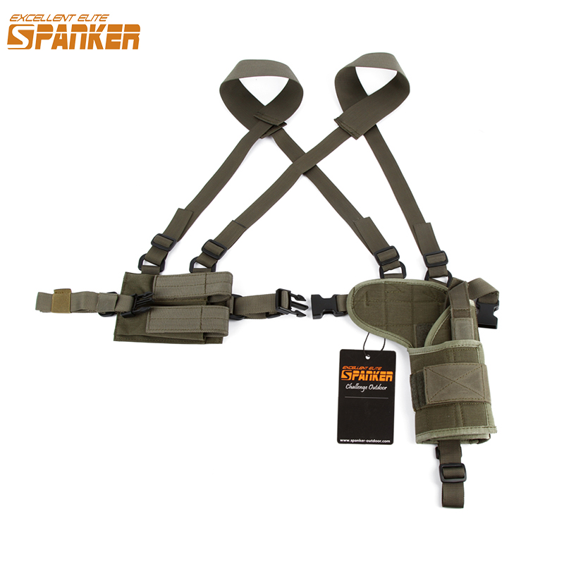 EXCELLENT ELITE SPANKER Armpit Pouch Military Holsters Outdoor Hunting Pouches Universal Tactical Gun Pouch Accessories sport elite se 2450