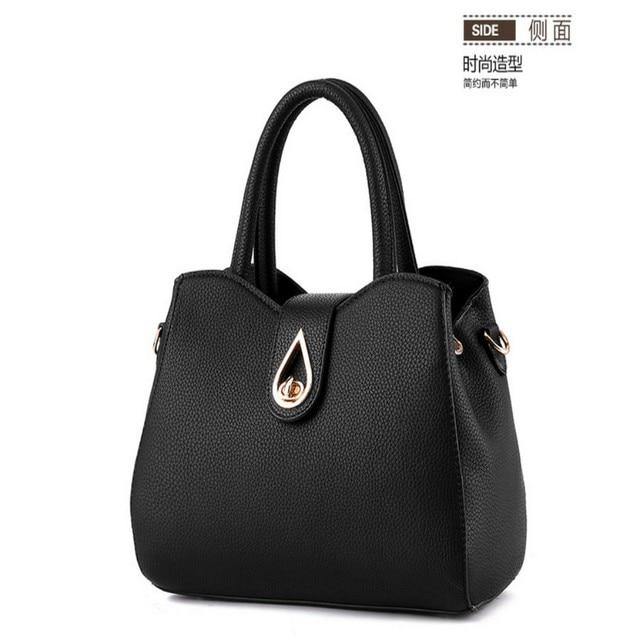 100% Genuine leather Women handbag 2017 New Fashion handbag Crossbody Shoulder Handbag women messenger bags Water drop design