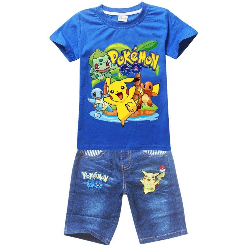 2017 novo menino t camisa pokemon go