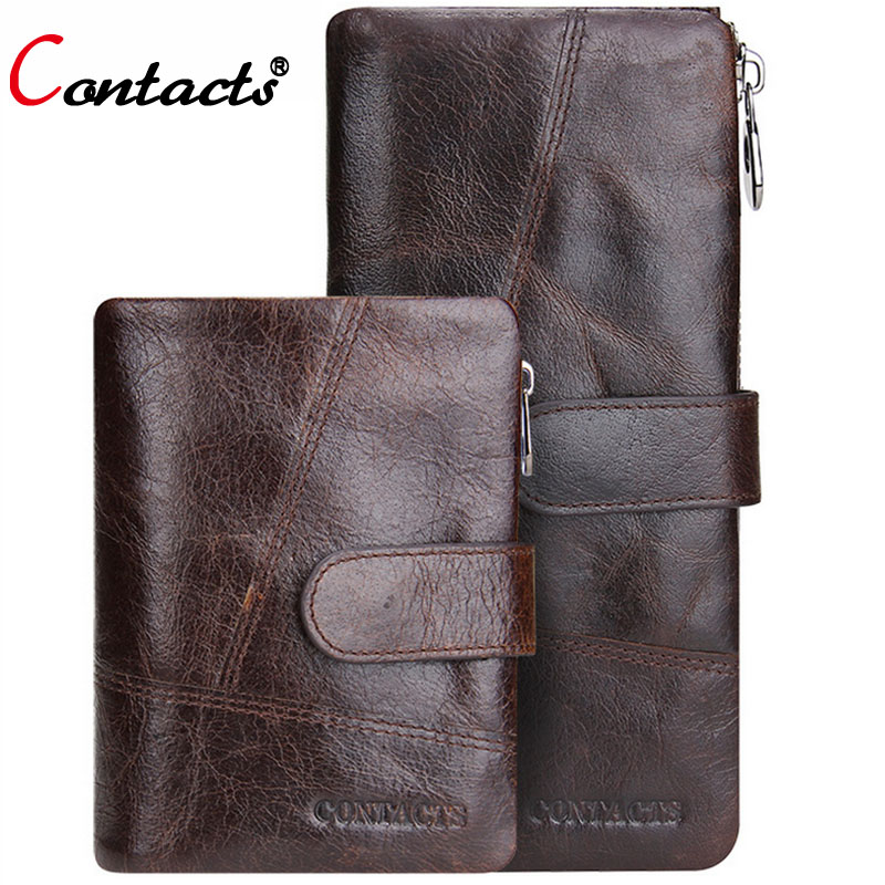 CONTACT'S Men Wallet Bag Long Zipper Men Genuine Leather Wallet Card Holder Purses For Cents Brand Mens Clutch Bag Dollar Price 2017 new brand mens wallet double zipper genuine leather bag vintage solid clutch bag phone cases male coins purses wallet