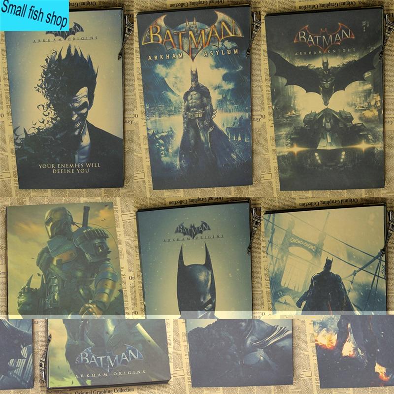 Batman Arkham Origins klauns Spēles plakāts Mājas mēbeļu apdare - Mājas dekors