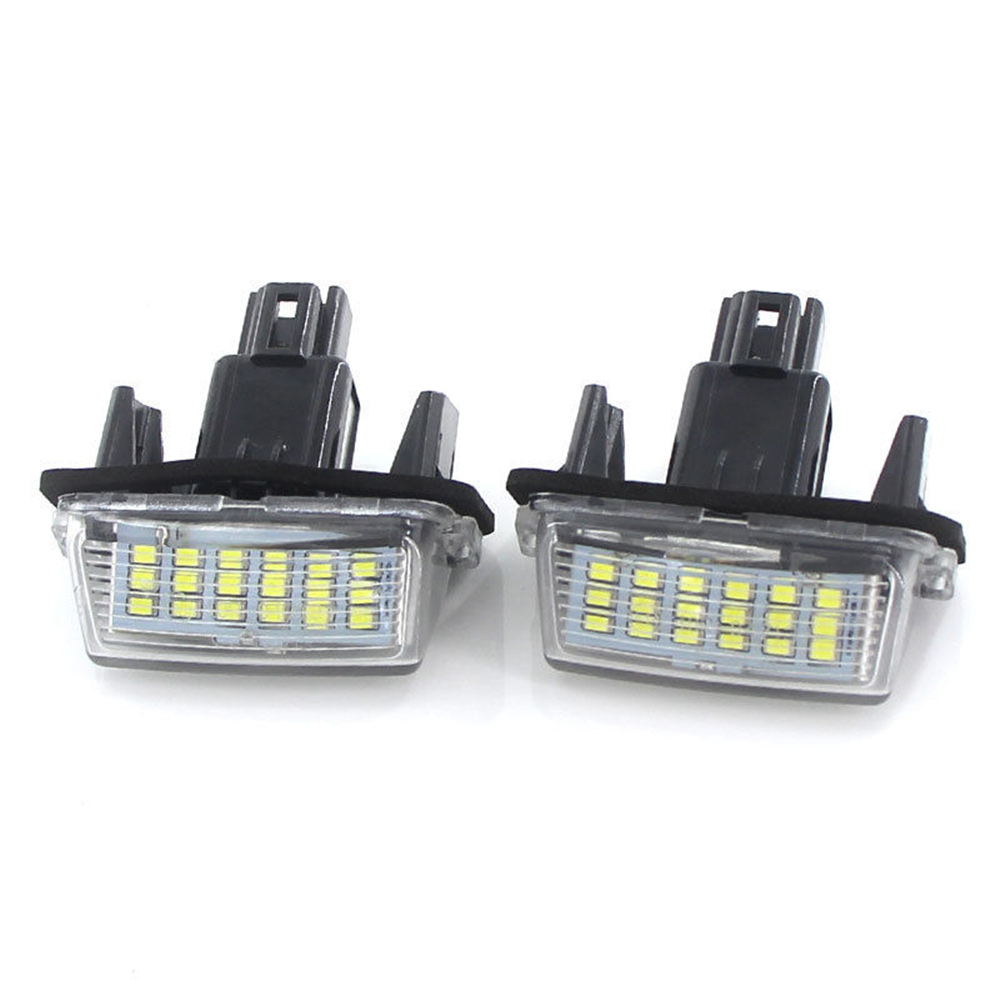 QCDIN 1 Pair 18 SMD LEDs License Plate Lights Lamps Bulbs White 6500K 12V For CAMRY COROLLA PRIUS RACTIS VERSO YARIS...